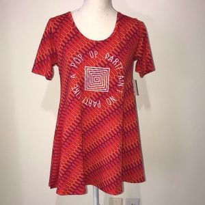 LuLaRoe POP Up Party Shirt Size XXS New with Tags